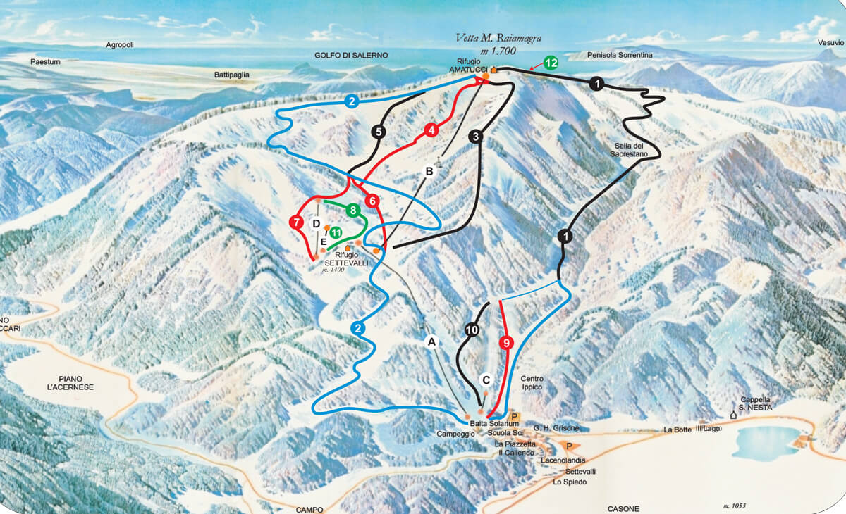Skirama Laceno Mappa Piste Sci Italia Skirama Dove